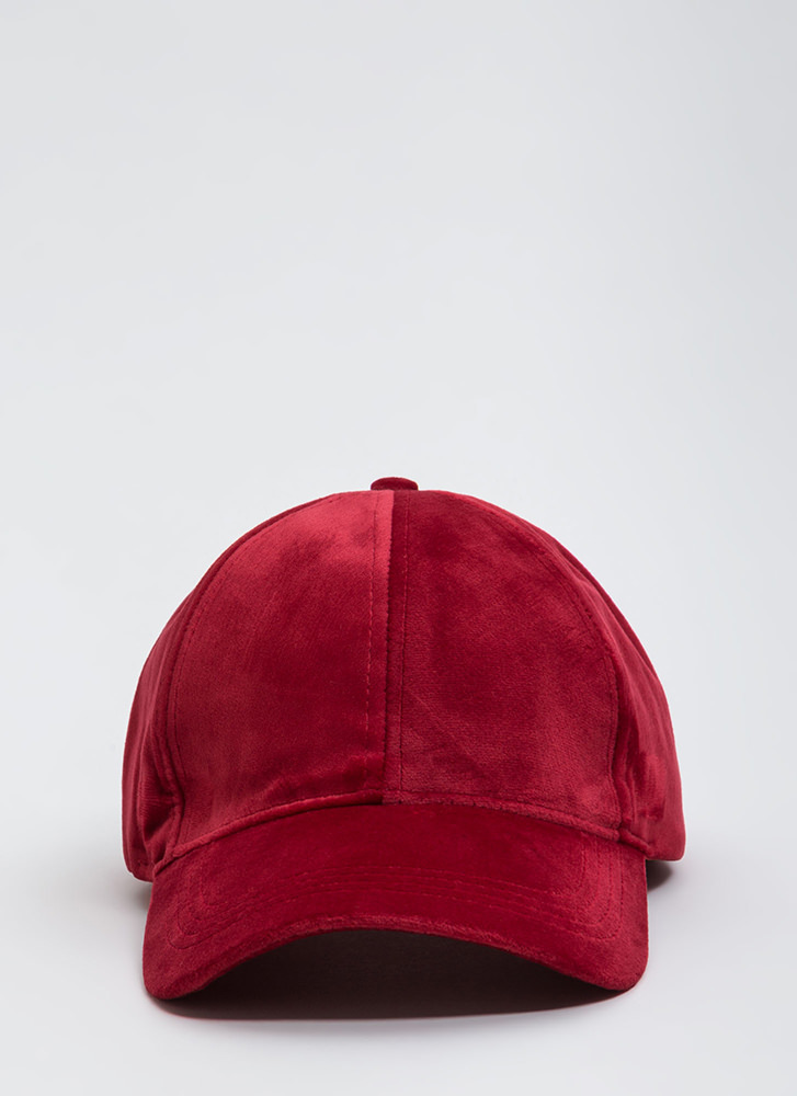 Plush Into Things Velvet Hat RED
