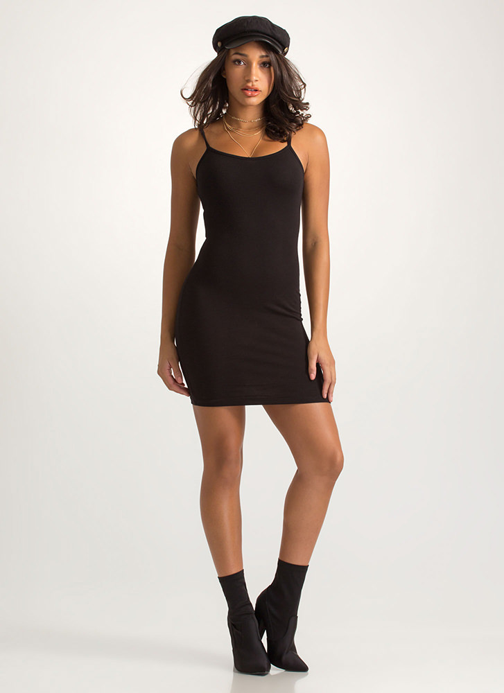 Every Day Of The Week Cami Tank Dress BLACK
