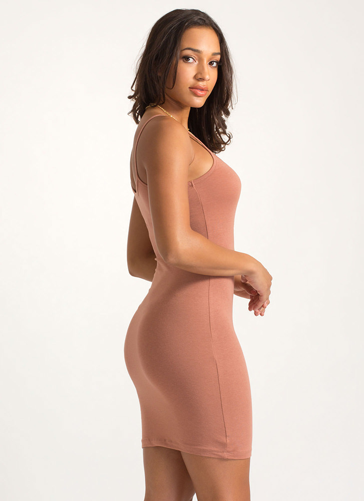 Every Day Of The Week Cami Tank Dress MARSALA