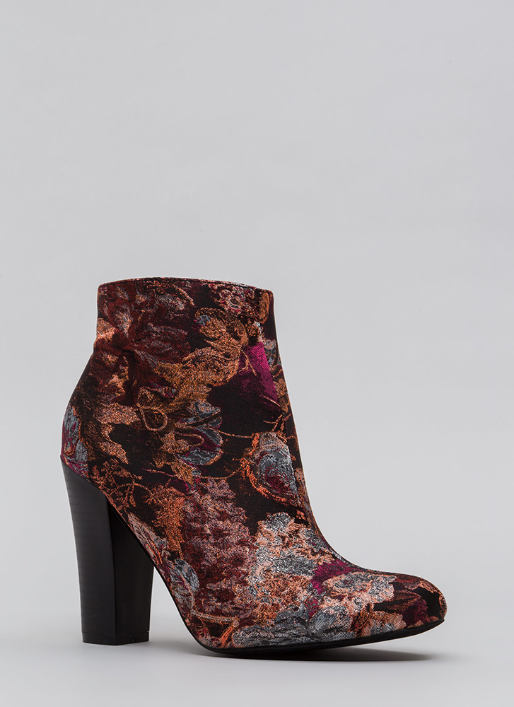Make An Impression Embroidered Booties PINK (Final Sale)