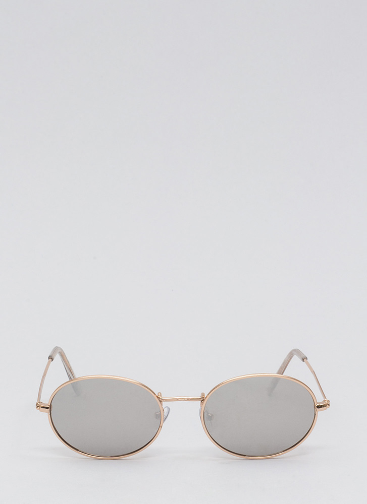 Good Egg Wire Frame Sunglasses SILVER
