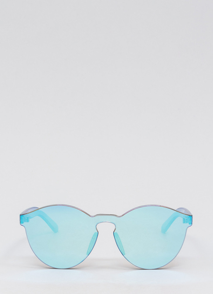 Future Is Bright Frameless Sunglasses BLUE