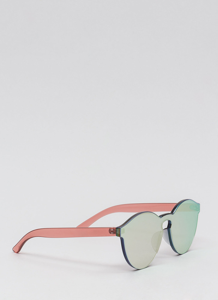 Future Is Bright Frameless Sunglasses PINK