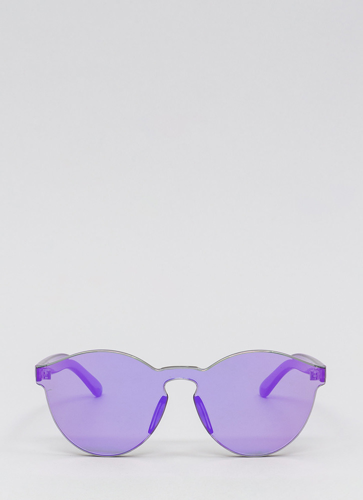 Future Is Bright Frameless Sunglasses PURPLE
