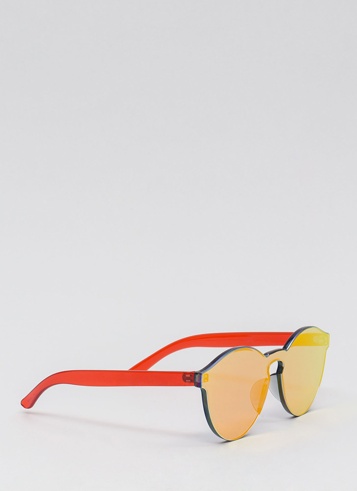 Future Is Bright Frameless Sunglasses RED