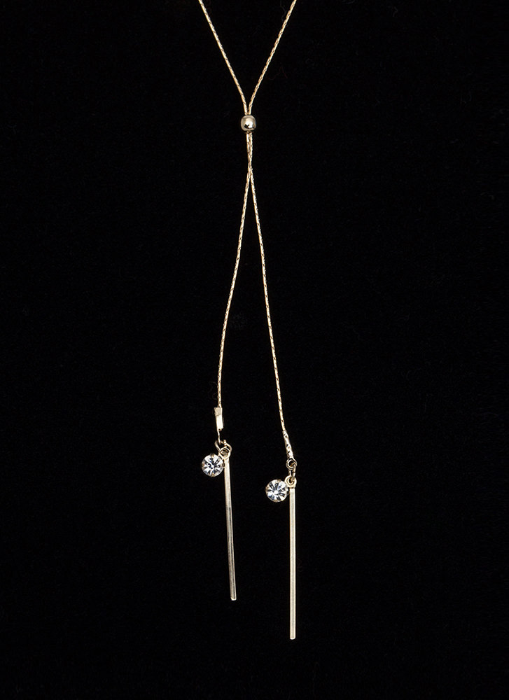 Sticks And Stones Lariat Necklace GOLD
