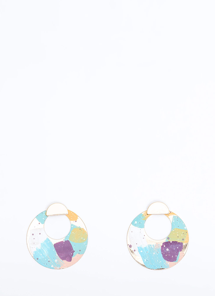 Paint The Town Cut-Out Jacket Earrings MULTI