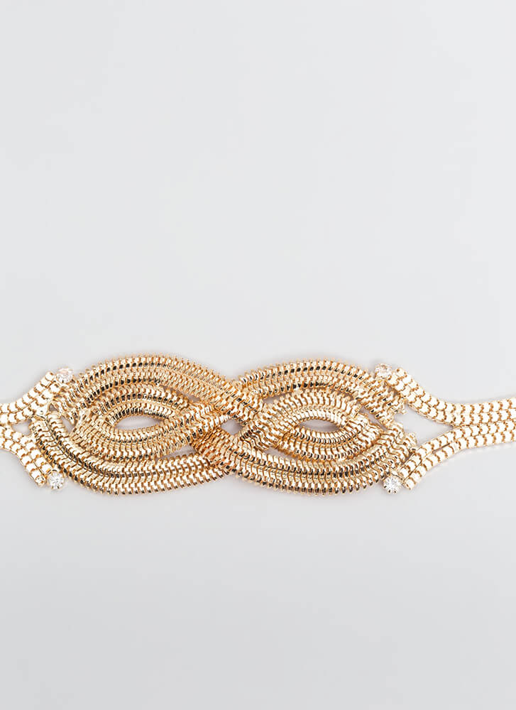 Infinite Possibilities Woven Chain Belt GOLD