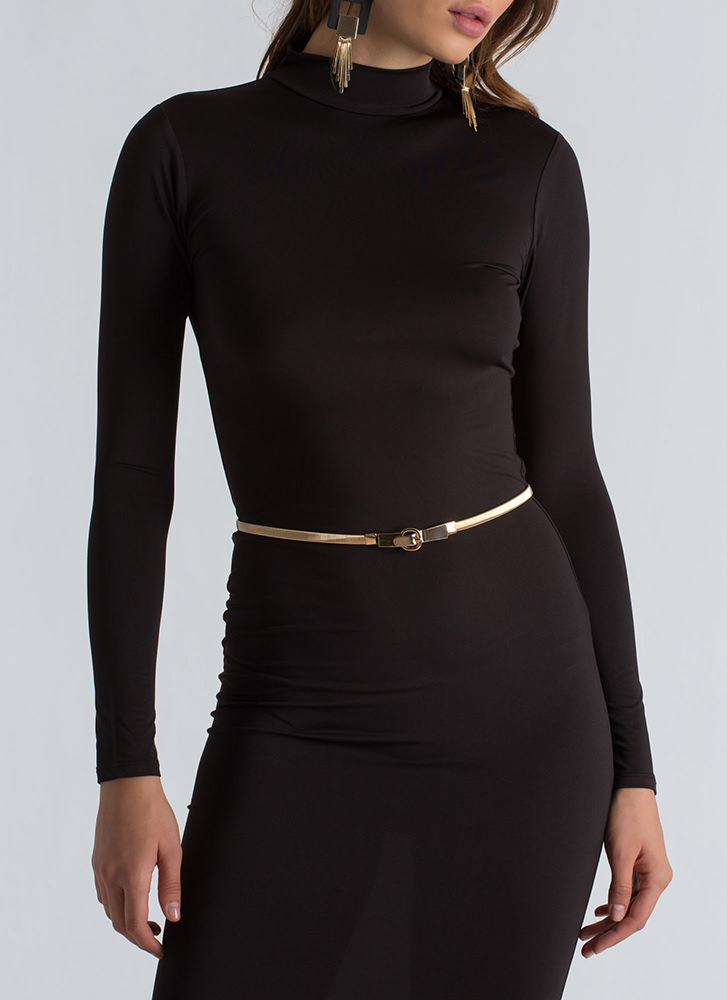 Slim To None Stretchy Omega Chain Belt GOLD