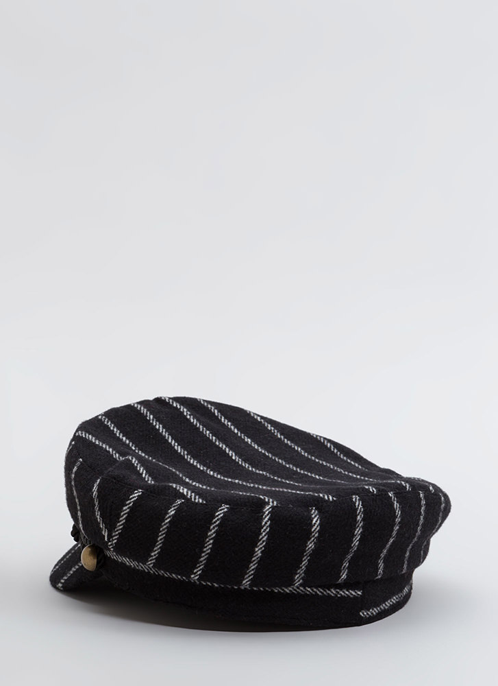 Stripe The Right Cords Cabbie Cap BLACK (You Saved $12)