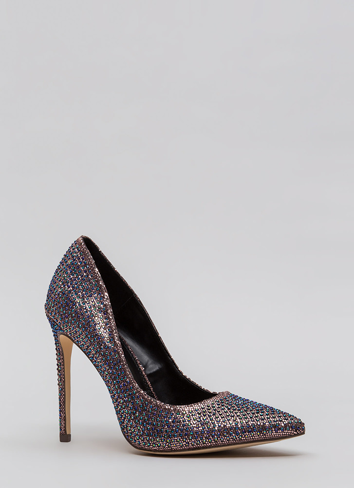 Glimmer Of Hope Jeweled Pointy Pumps MULTI (Final Sale)