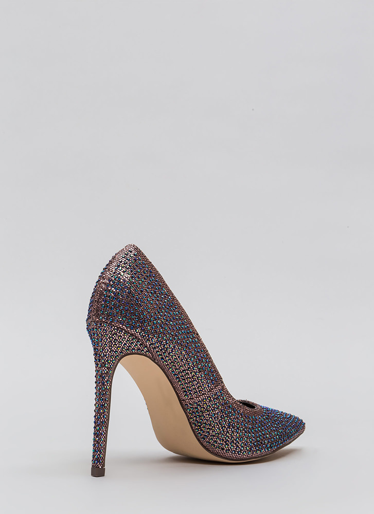 Glimmer Of Hope Jeweled Pointy Pumps MULTI