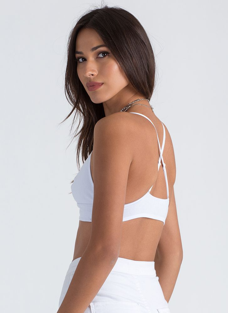Simpler Things In Life Nylon Bralette WHITE