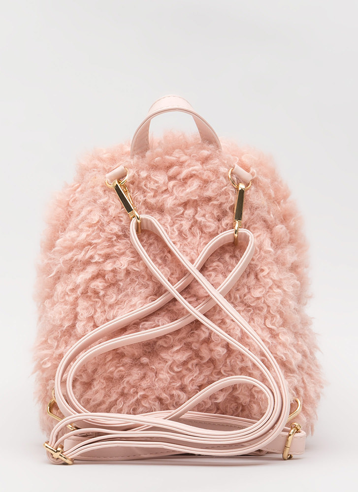 Furry Up And Go Mini Backpack PINK