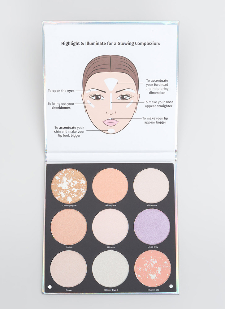 Glow For It Highlighter Booklet Palette MULTI