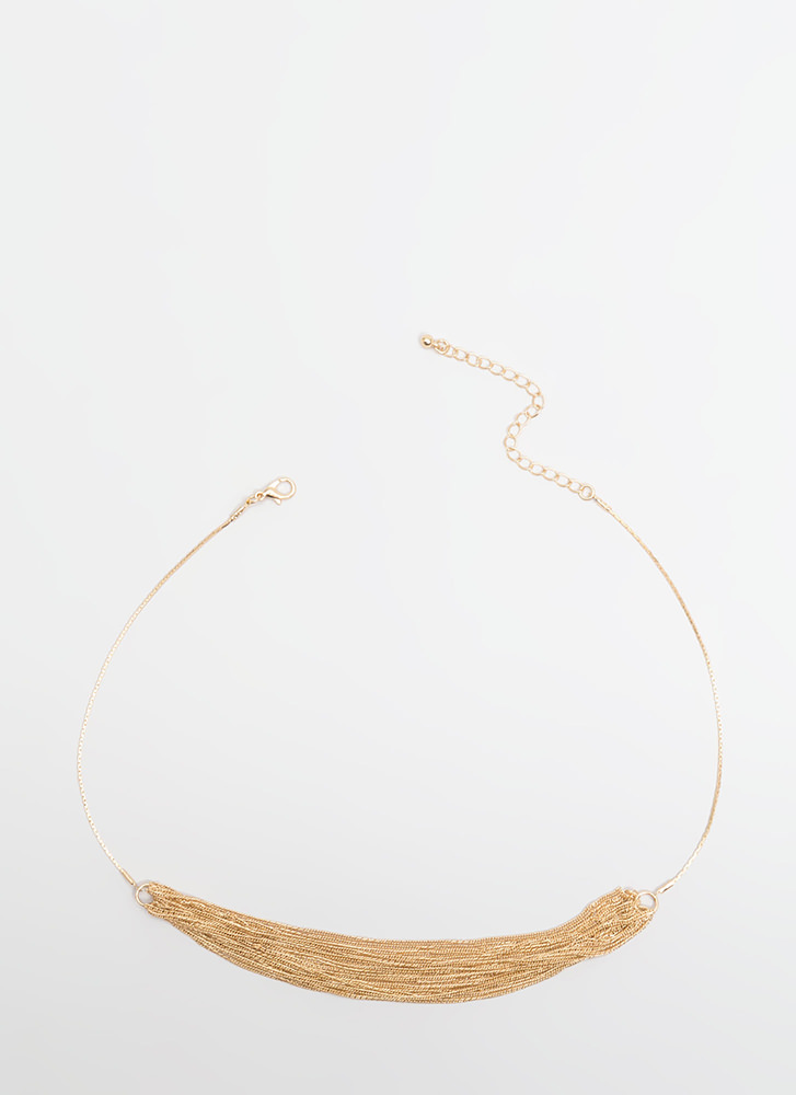 More Is More Draped Chain Choker GOLD