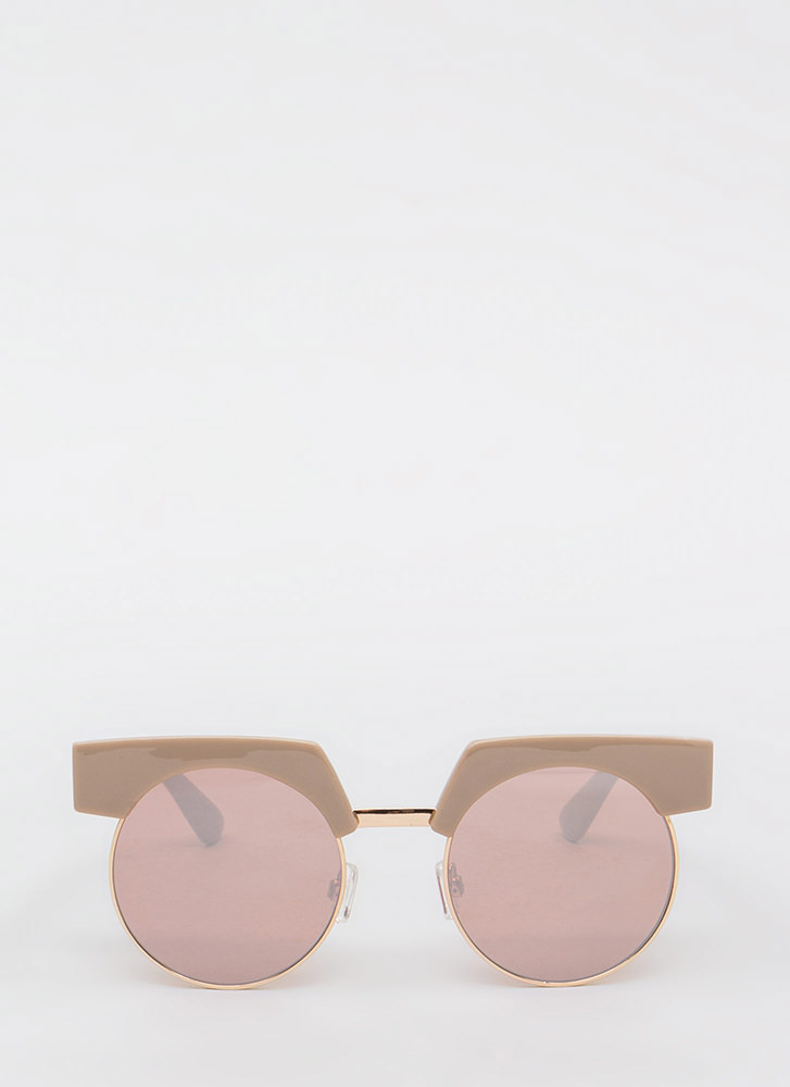 Those Brows Tho Round Sunglasses TAUPE