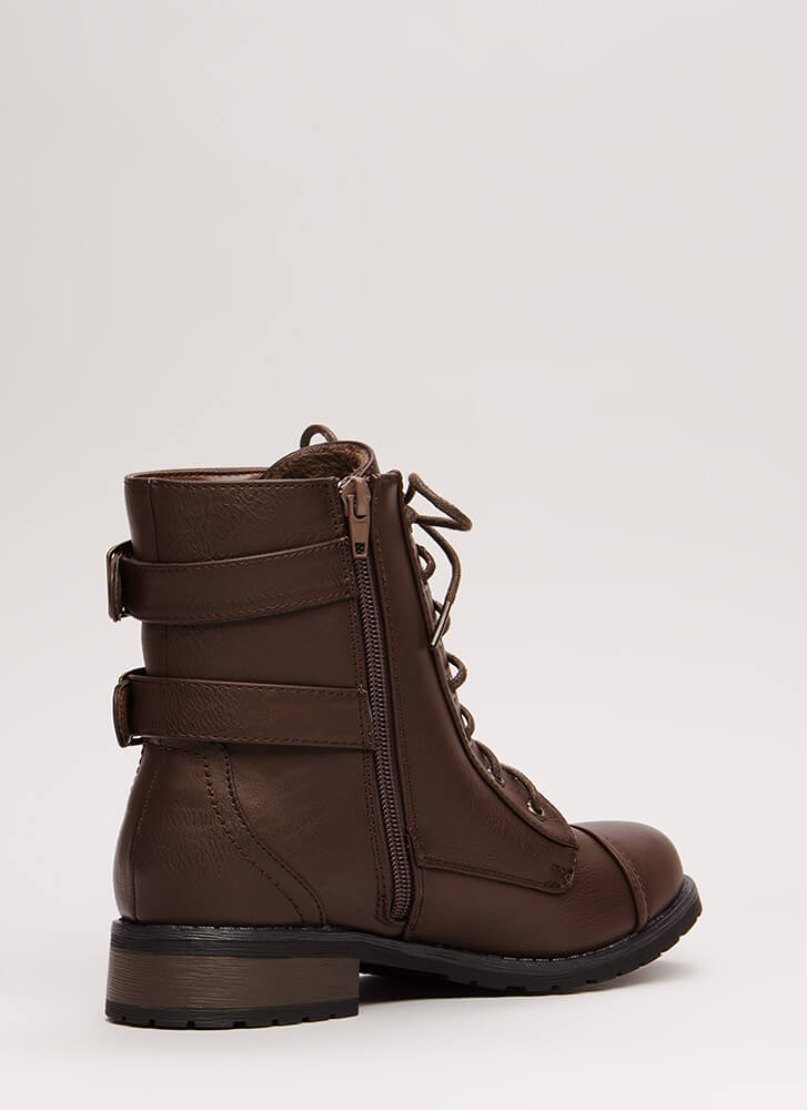Fight For Your Right Combat Boots BROWN