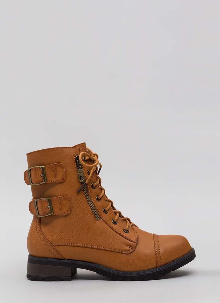 Fight For Your Right Combat Boots TAN