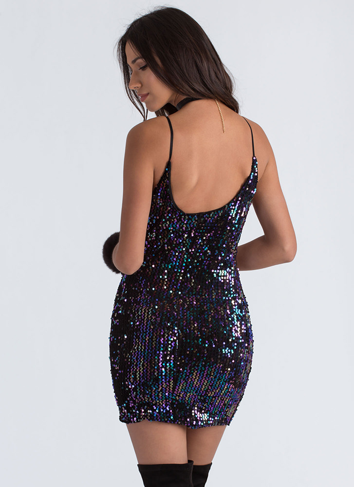 Party People Sequined Minidress BLACK