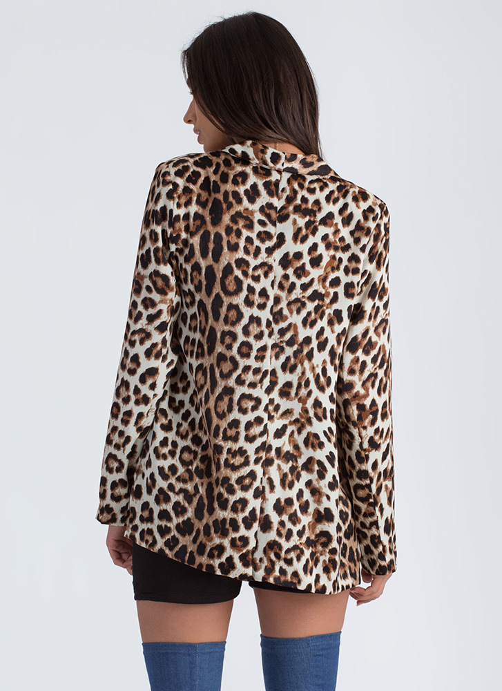 Spotted In The City Leopard Blazer LEOPARD