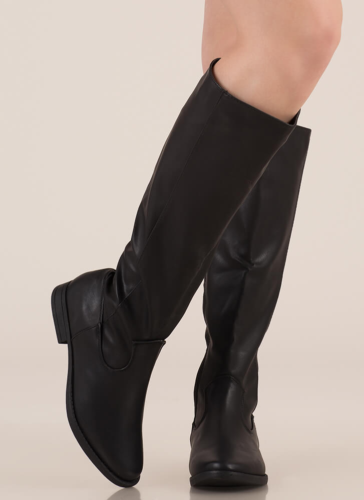 It's Your Time Knee-High Riding Boots BLACK