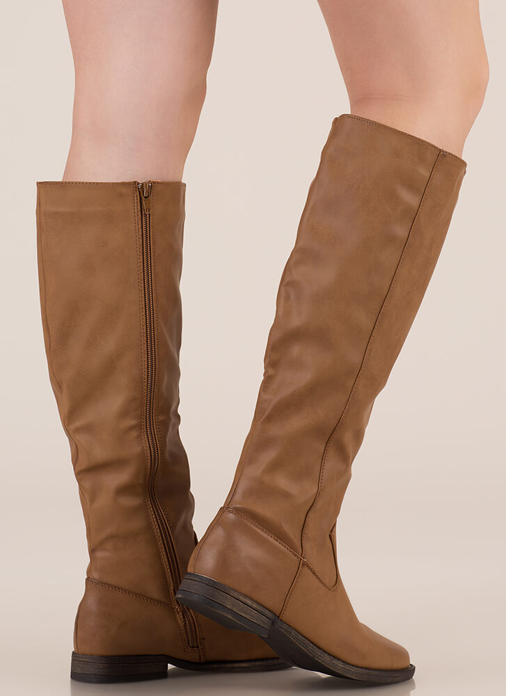 It's Your Time Knee-High Riding Boots TAN