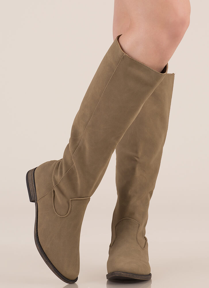 It's Your Time Knee-High Riding Boots TAUPE