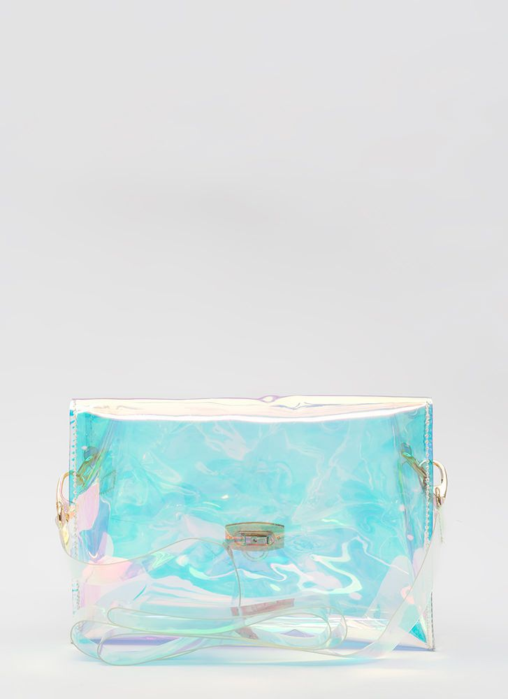 Make It Clear Iridescent Handbag CLEAR