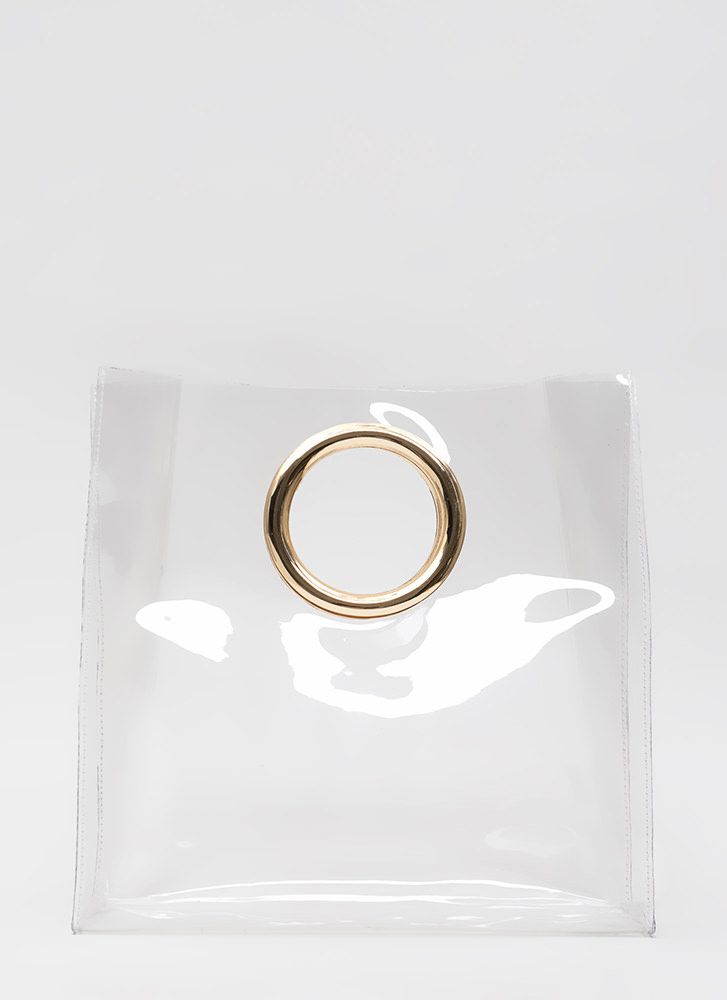 Ring Ring Clear Cut-Out Handbag CLEARGOLD