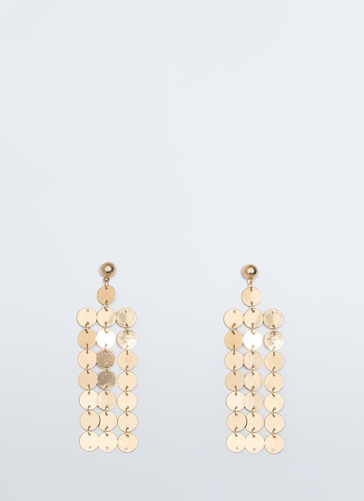 Coin The Phrase Paillette Earrings GOLD