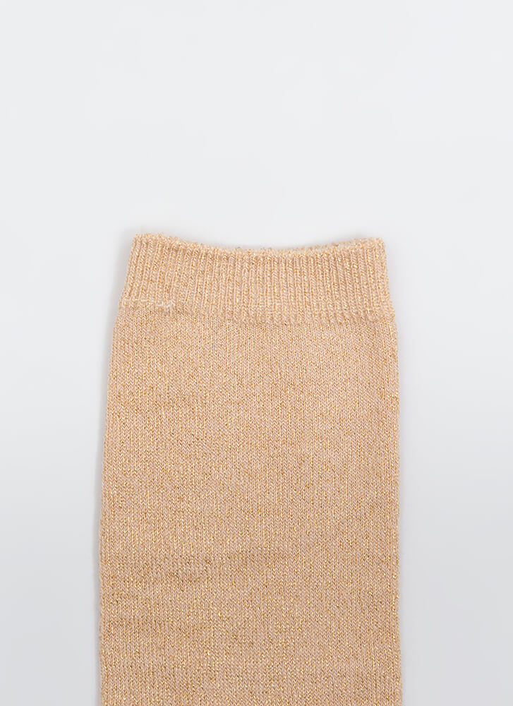 Feet First Sparkly Ankle Socks BRONZE (Final Sale)