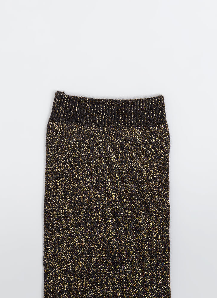 Feet First Sparkly Ankle Socks GOLD (Final Sale)