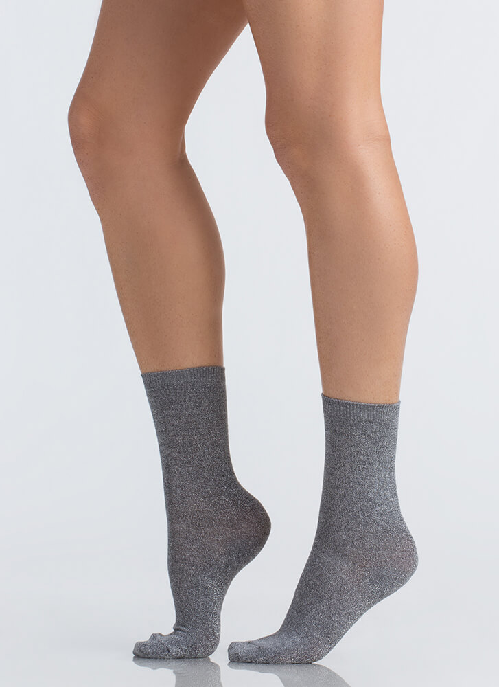 Feet First Sparkly Ankle Socks SILVER (Final Sale)