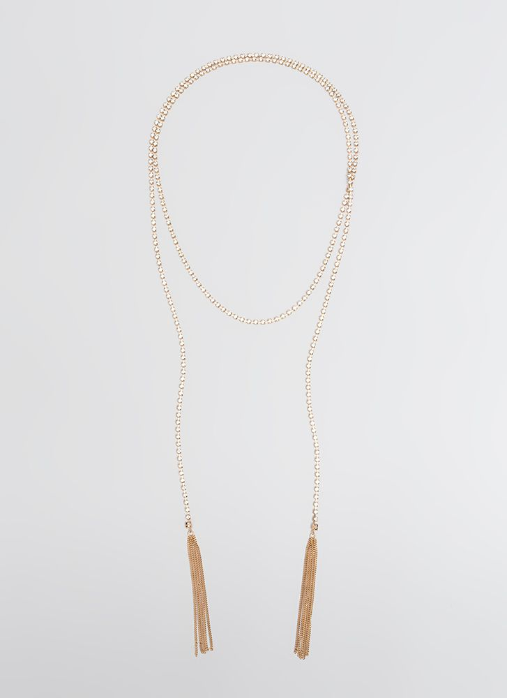 Strand Of Jewels Wraparound Choker GOLD