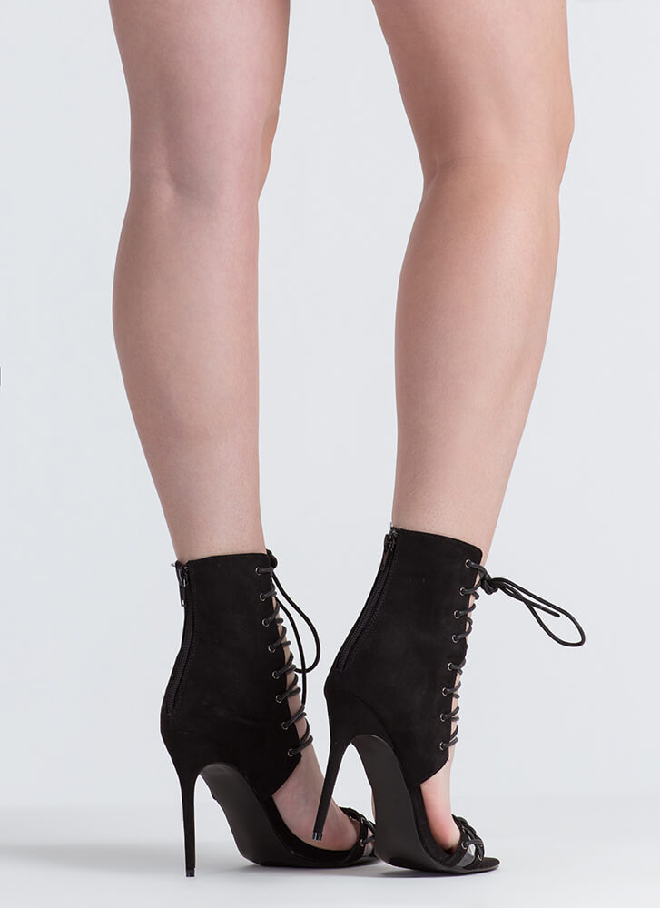 Panel Of Experts Lace-Up Heels BLACK