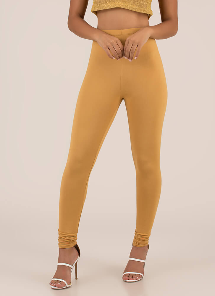 Basically Must-Have Solid Leggings CAMEL