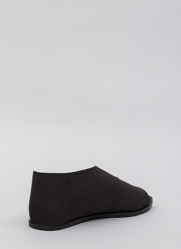 Wrapped Up In It Asymmetrical Sandals BLACK