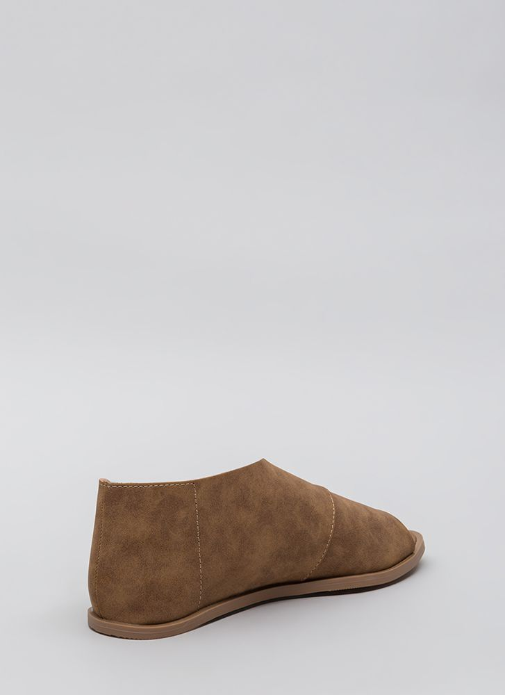 Wrapped Up In It Asymmetrical Sandals COGNAC