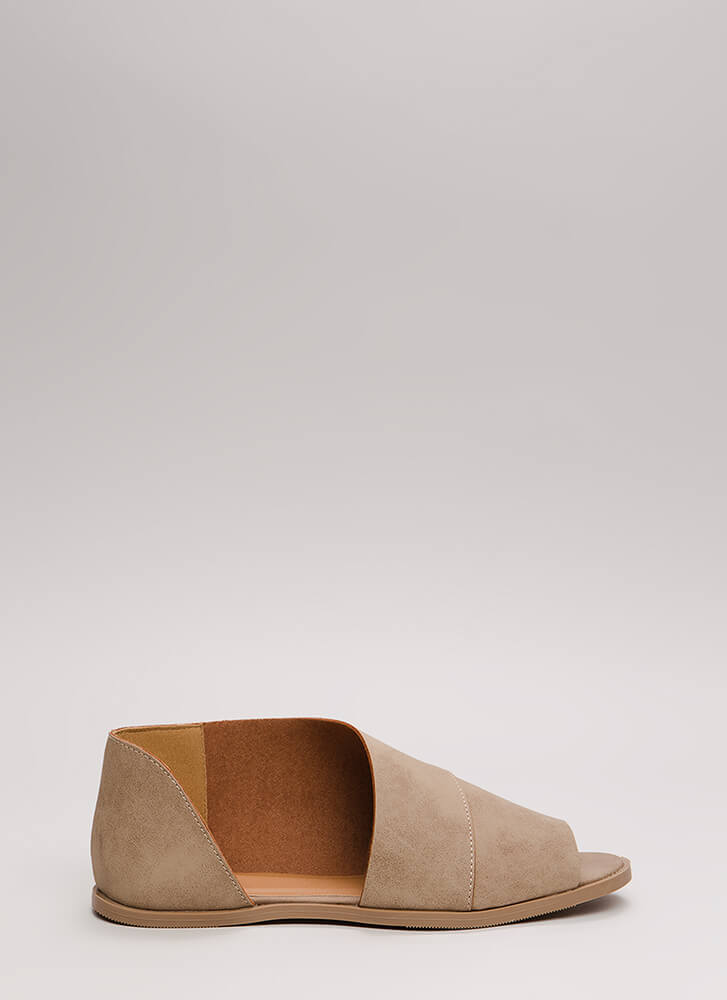 Wrapped Up In It Asymmetrical Sandals TAUPE
