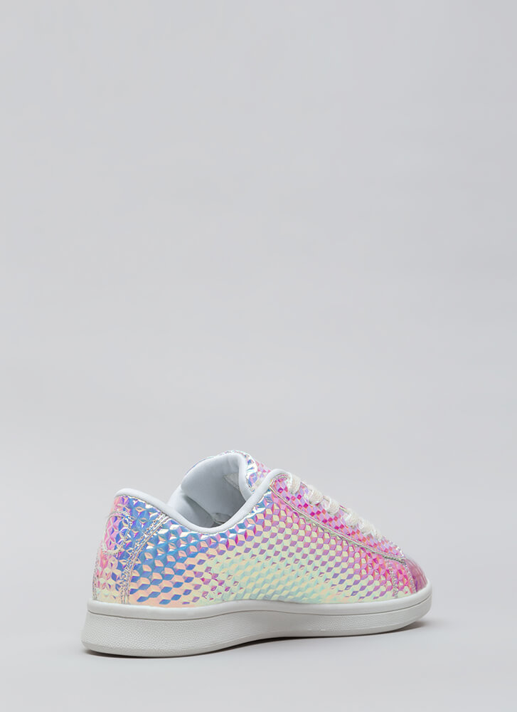 Shine And Sparkle Holographic Sneakers PINK