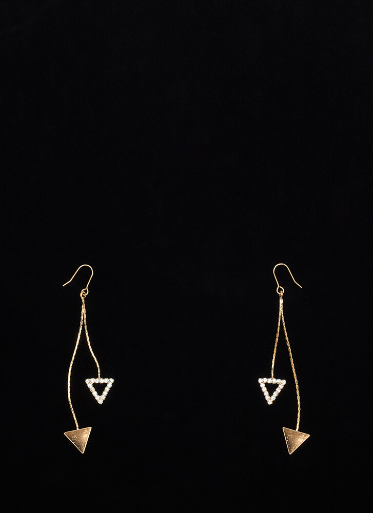 Third Side's A Charm Triangle Earrings GOLD