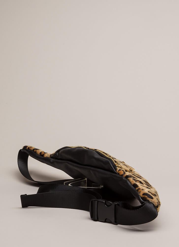 Out Of This Galaxy Glittery Fanny Pack LEOPARD