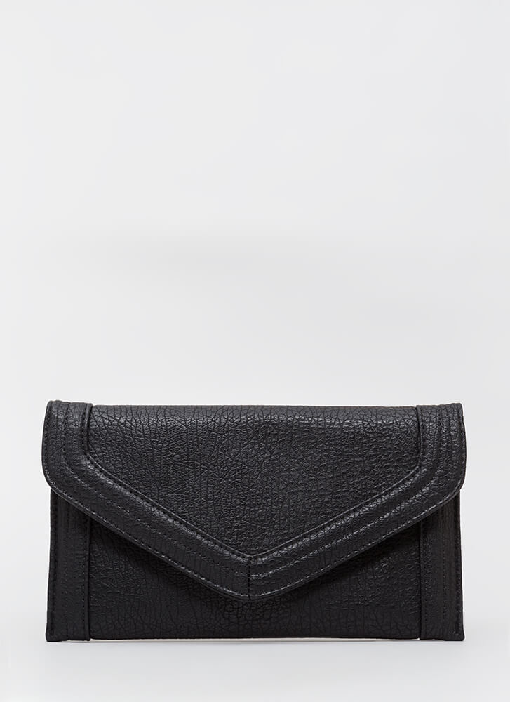 In And Out Of The Office Envelope Clutch BLACK
