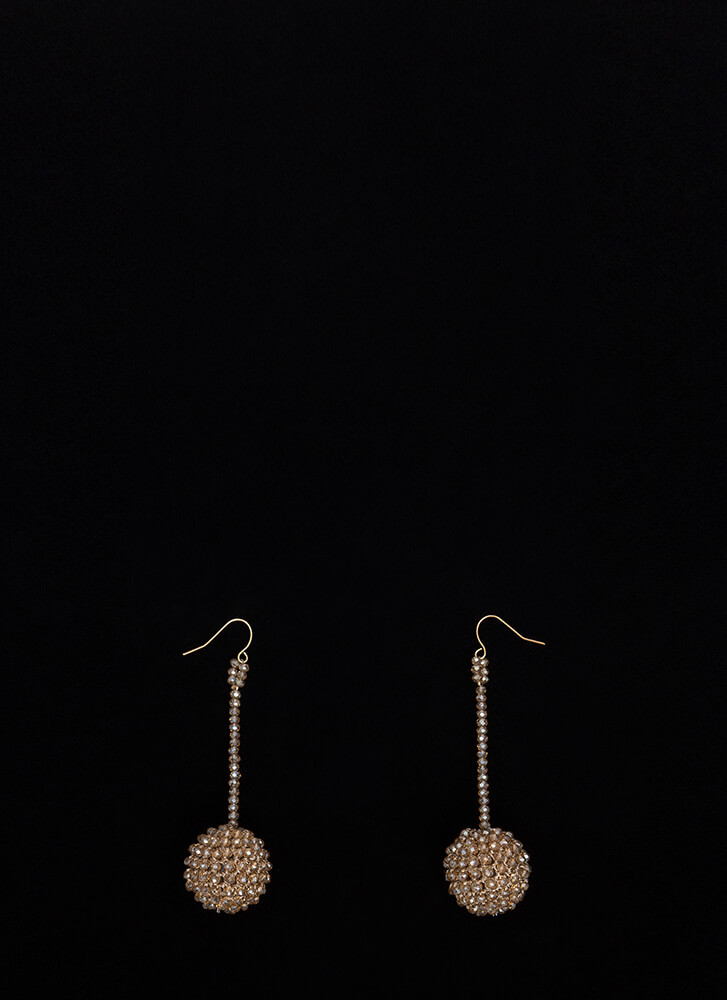 Have A Ball Dangling Beaded Earrings GOLD (Final Sale)
