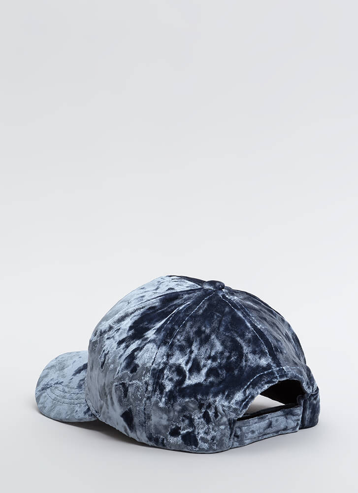 Feeling Crushed Velvet Cap BLUE