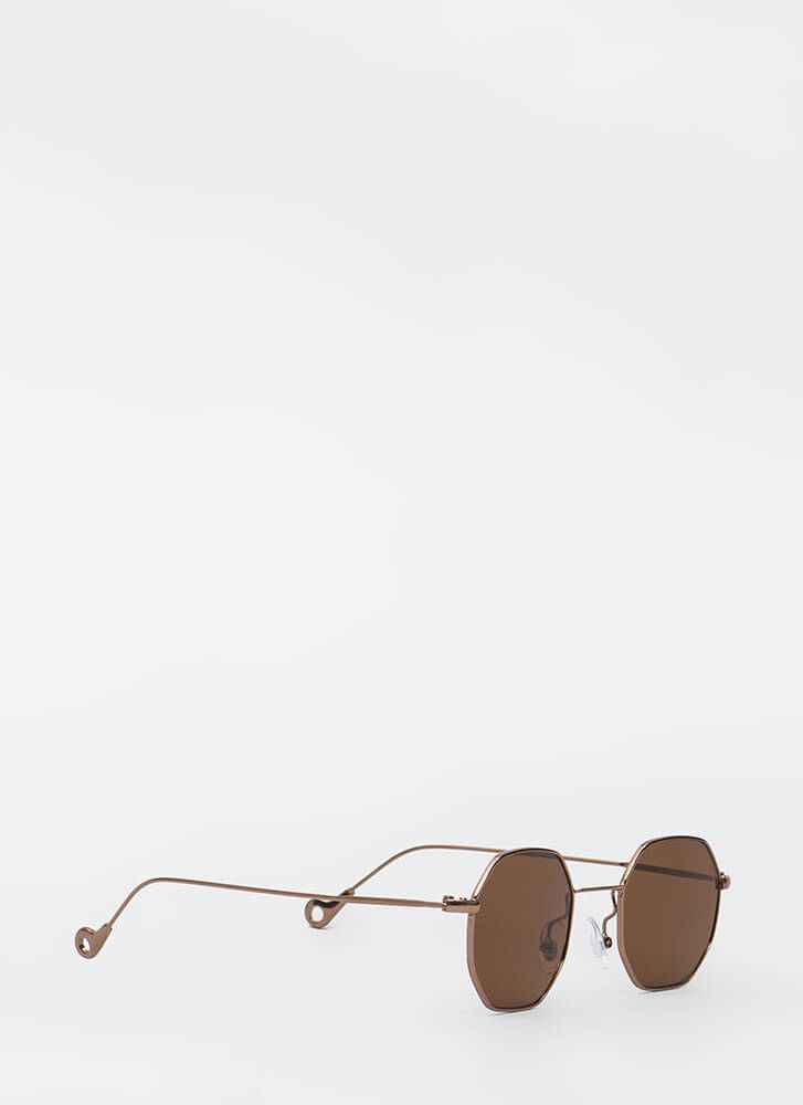 Eight Is Enough Wire Trim Sunglasses COPPER