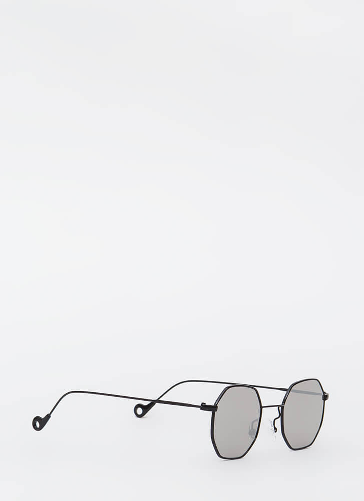 Eight Is Enough Wire Trim Sunglasses GREY
