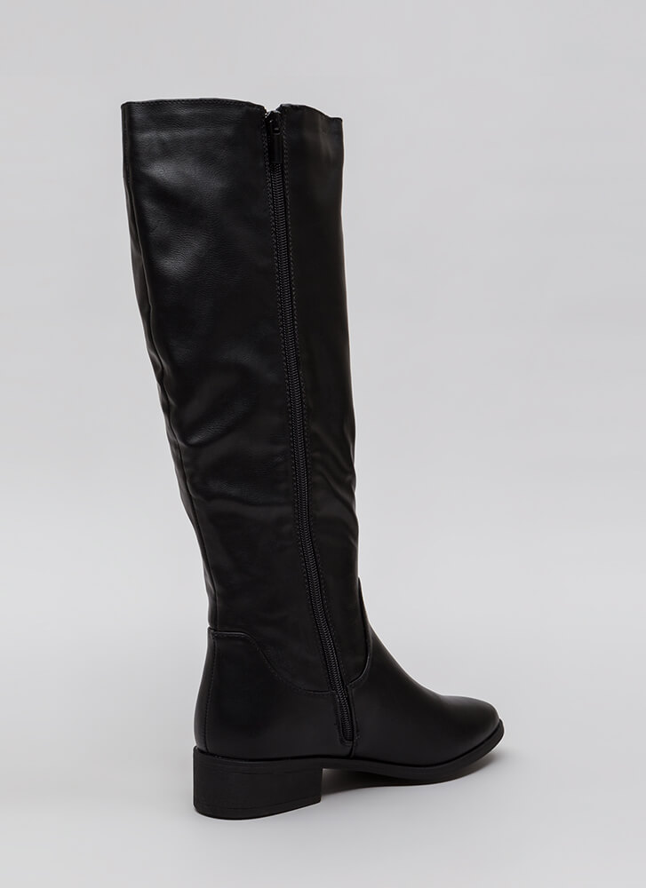 Into The Sunset Faux Leather Boots BLACK