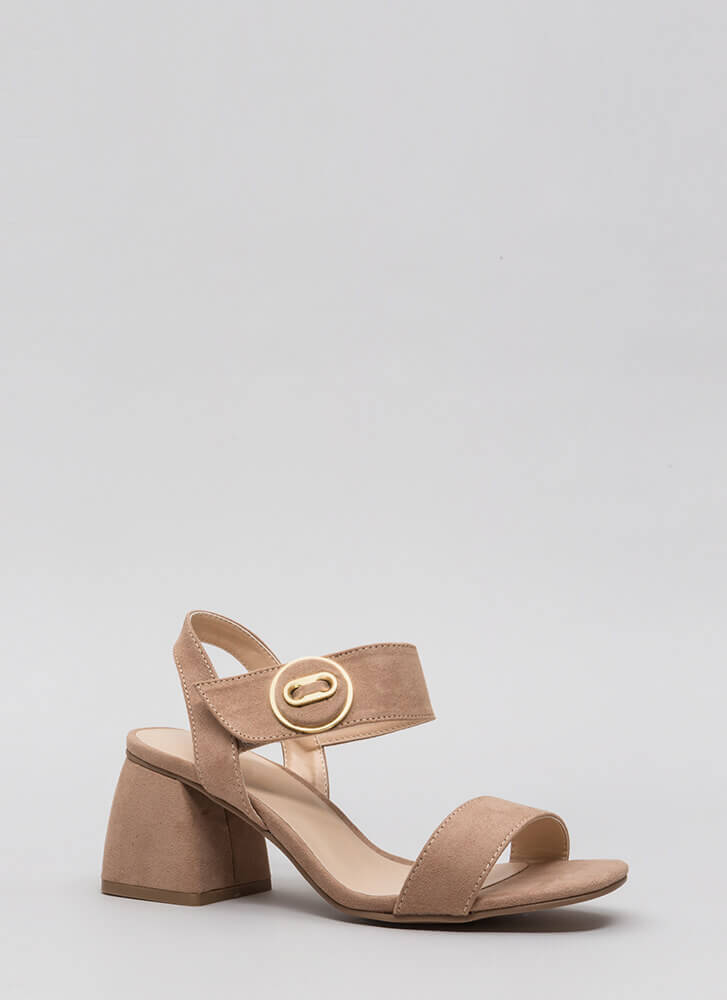 Block Of Time Flared Chunky Heels WARMTAUPE